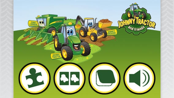 Johnny Tractor and Friends Game Pack App for iPhone and iPad