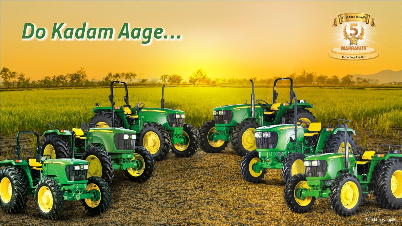 John Deere Tractor , 5E Series range, Right Profile