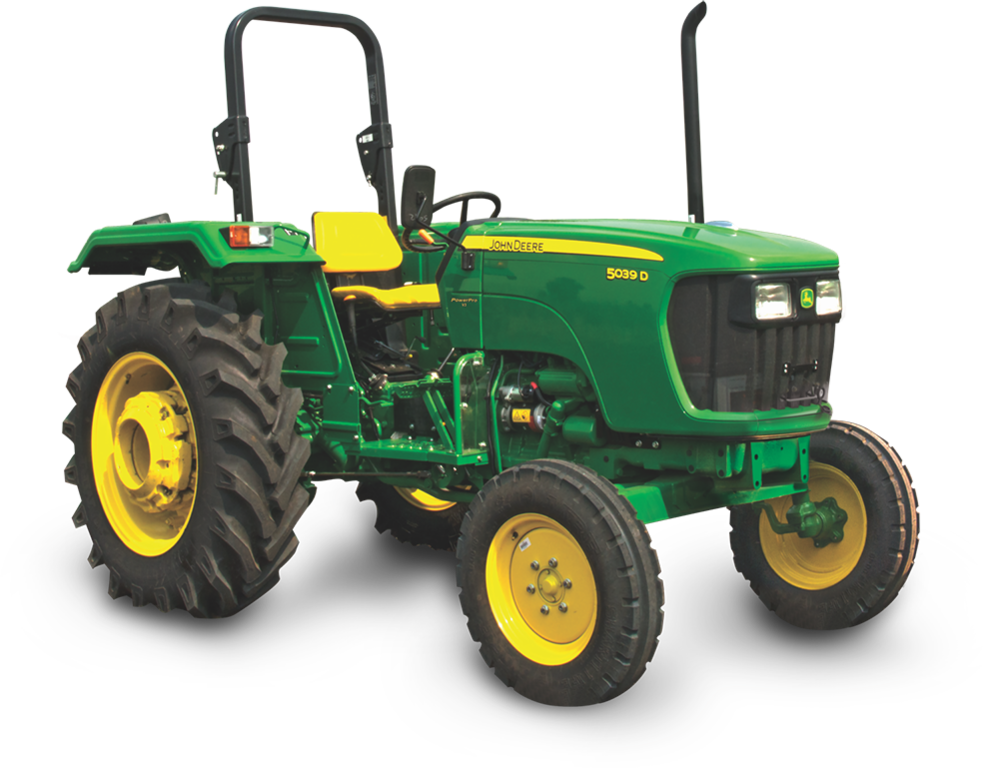 John Deere 5039D tractor features among 41 to 50 HP range of tractors . The John Deere Tractor 5039D has an advanced 2100rpm and 1600 kgf lifting capacity