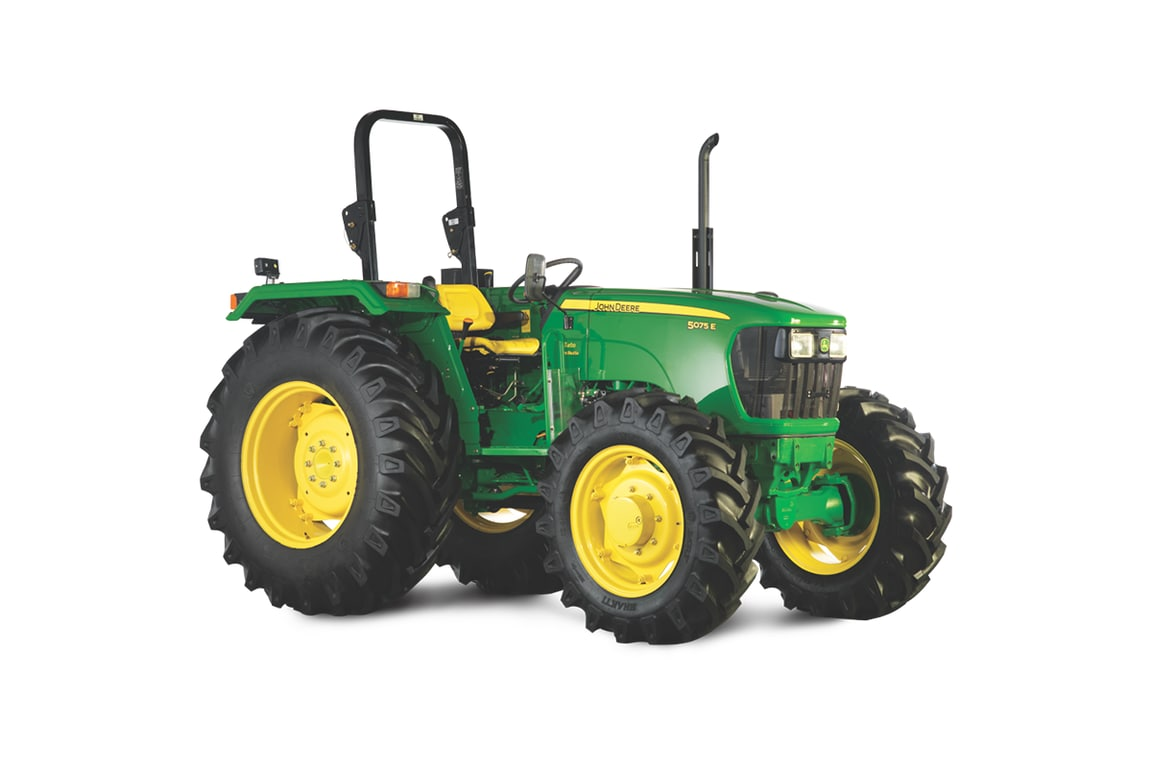 John Deere Tractor , 75 HP, Model 5075, Right Profile