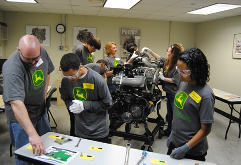 8th Grade Students at John Deere Engine Works